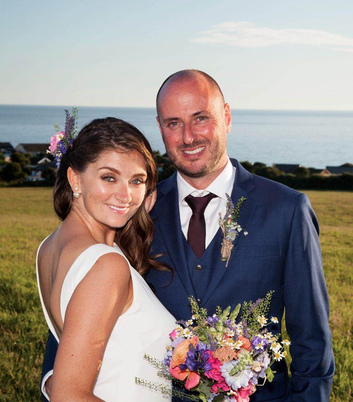 Jim and Tash Cornish coastal wedding