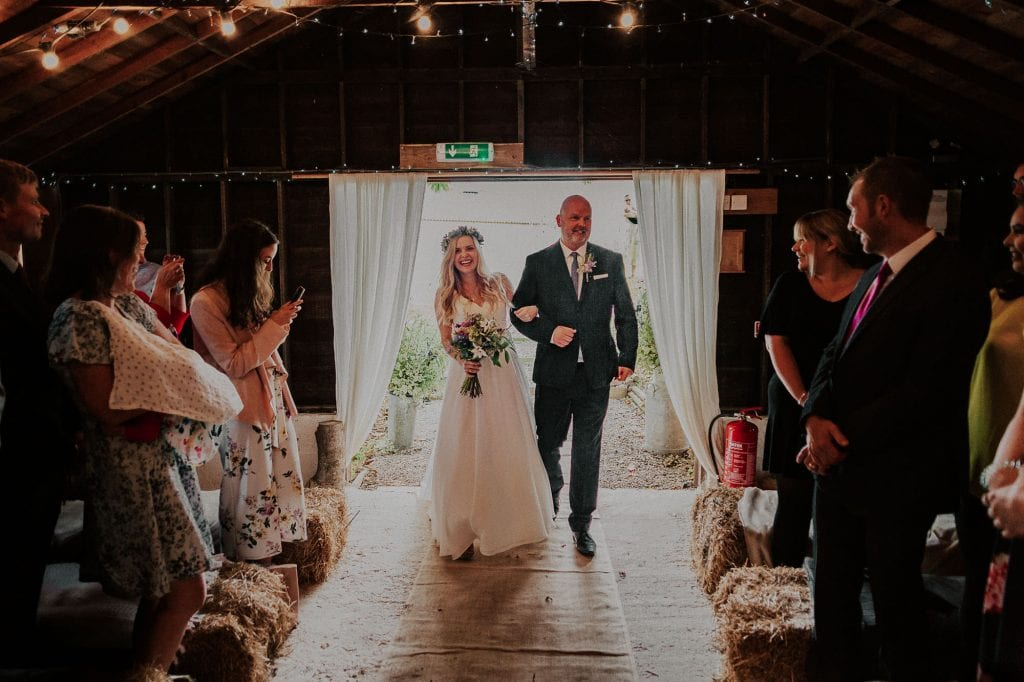 how to decorate a barn wedding venue
