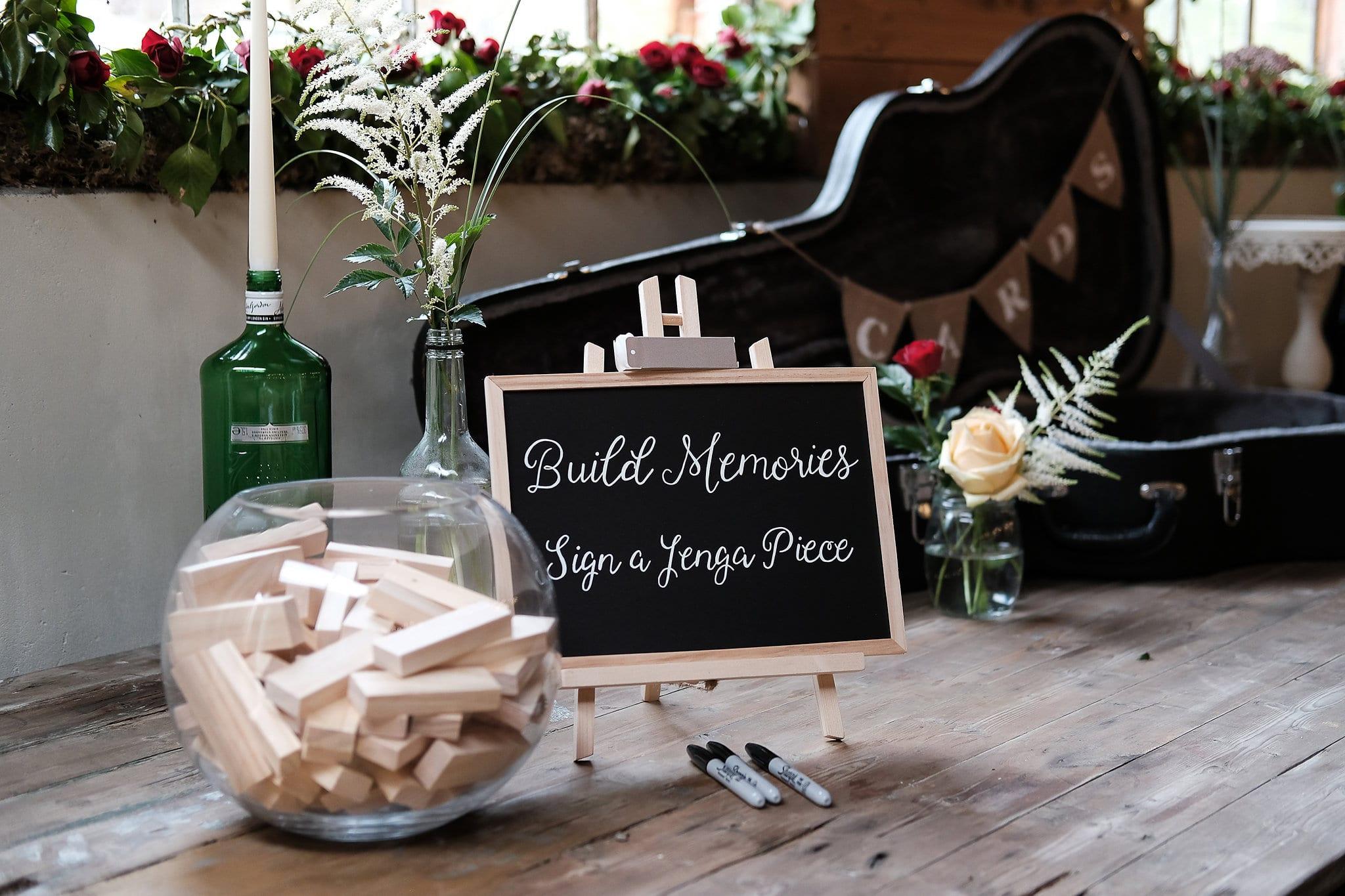 Wedding Jenga